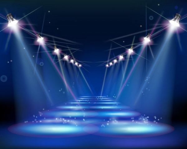 Stage With Spotlights Elements