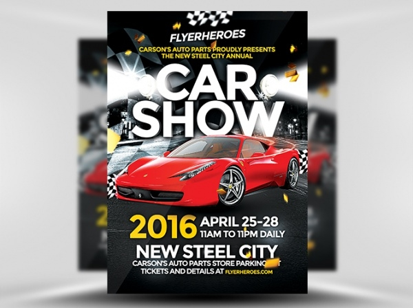 Steel City Car Show Flyer Template