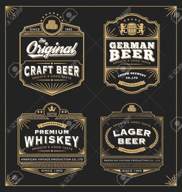 Sticker Frame Design for Beer Labels