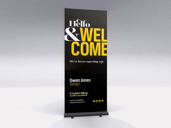 Studio Welcome Pull-up banner