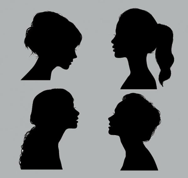 Stylish Black Girl Silhouettes