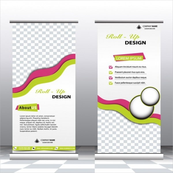 Stylish Business Roll Up Banner Design
