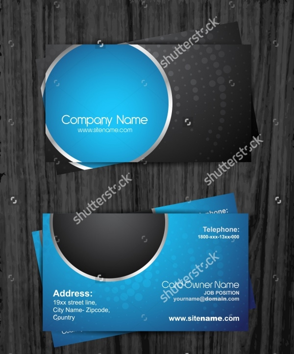 Stylish Dark Corporate Business Card Design