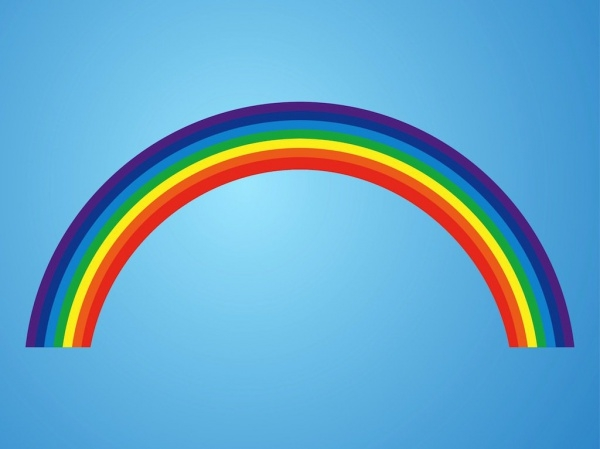 Stylized and Colorful Rainbow Vector