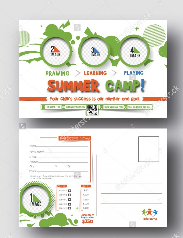 Summer Camp Postcard Design