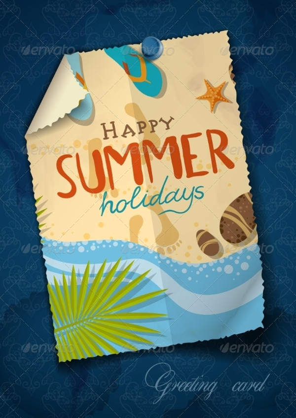 Summer Greeting Card Design
