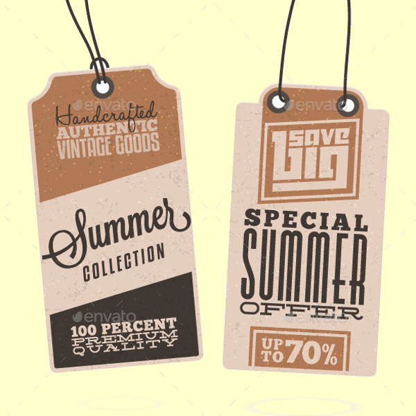 Summer Sales Related Hang Tags
