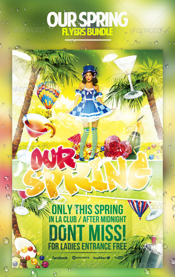 Summer Spring Party Flyer