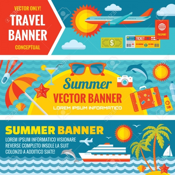 Summer Travel Decorative Banner Design