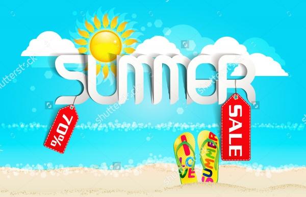 Summer Typography Sale Illustration