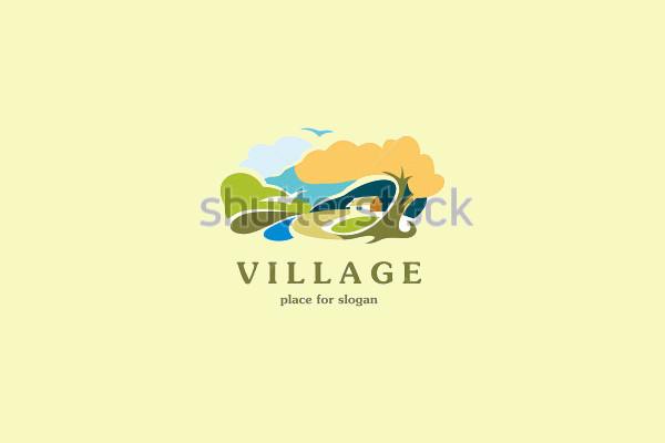 Sunrise Landscape Rural Logo