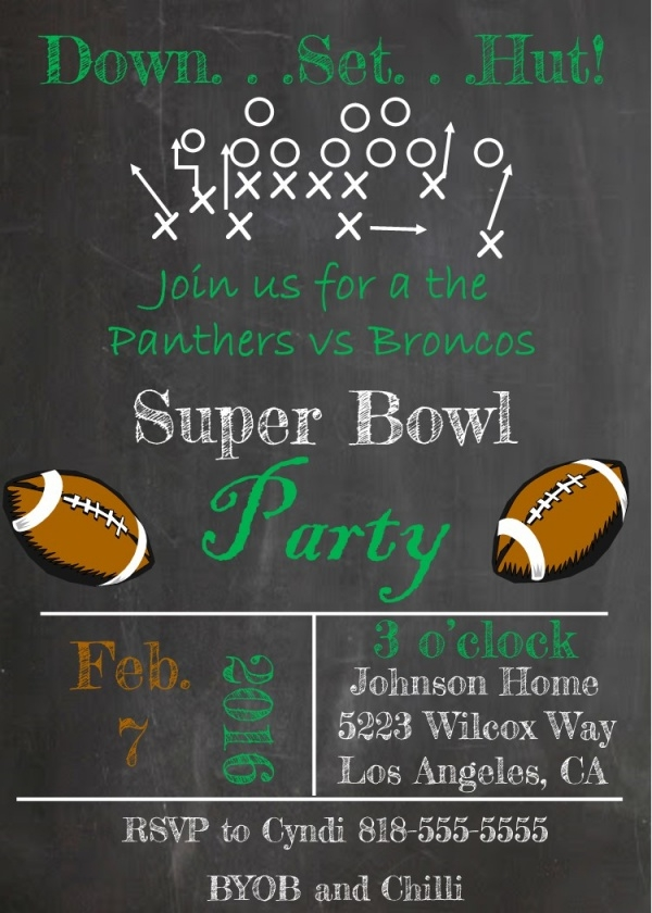 21 Super Bowl Invitation Designs PSD Vector EPS JPG Download