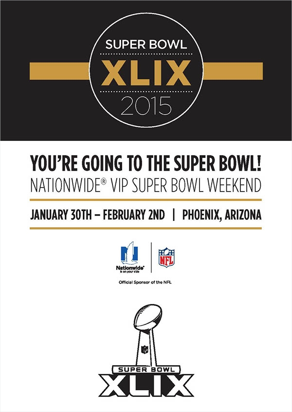 Super Bowl Invitation Package Design