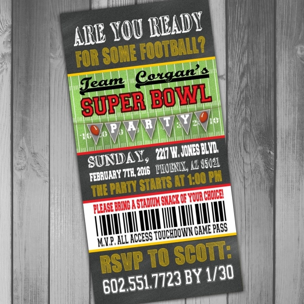 Super Bowl Ticket Invitation