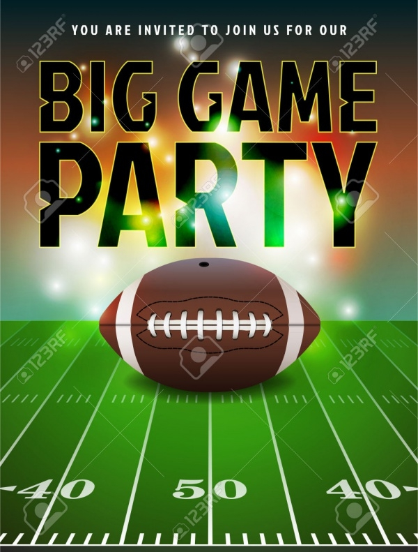 This is a photo of Persnickety Super Bowl Party Invitations Free Printable