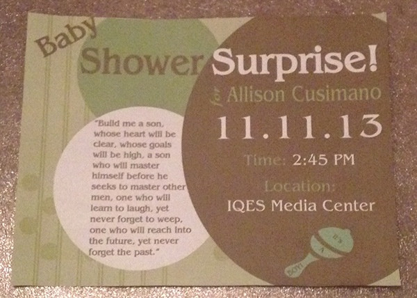Surprise Baby Shower Flyer
