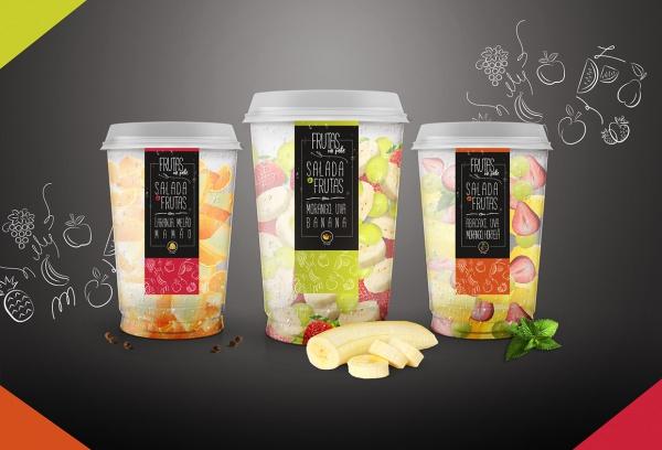 sweet fruit salad box packaging