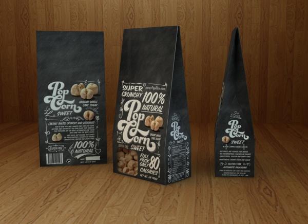 Sweet Popcorn Packaging Design
