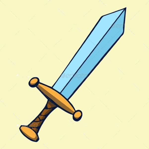 sword cartoon vector
