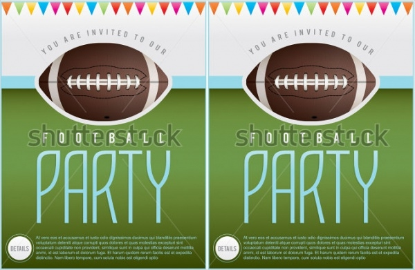 Tailgate Party Football Invitation Template
