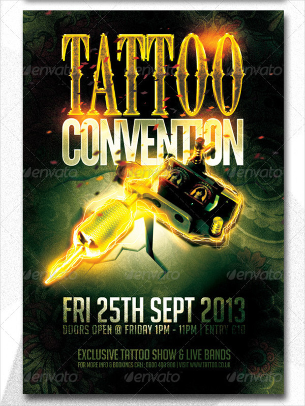 20  tattoo flyer designs