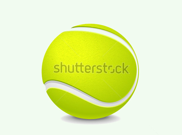 Tennis Ball Vector Art