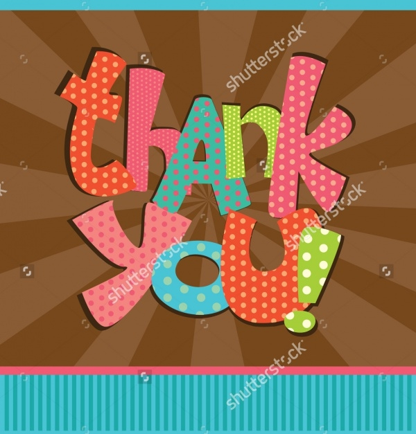 Thank You Greeting Card Design