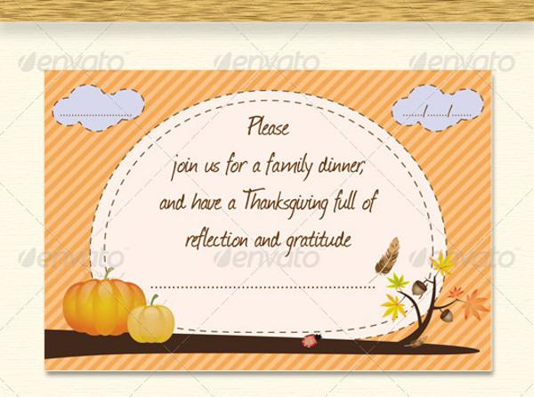 Thanksgiving Classic Invitation Design