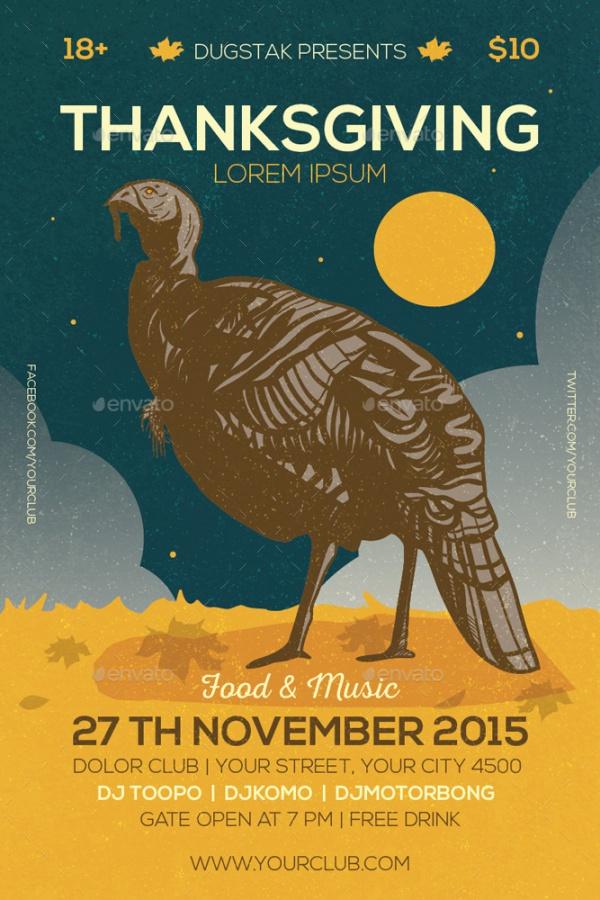 Thanksgiving Event Celebration Invitation
