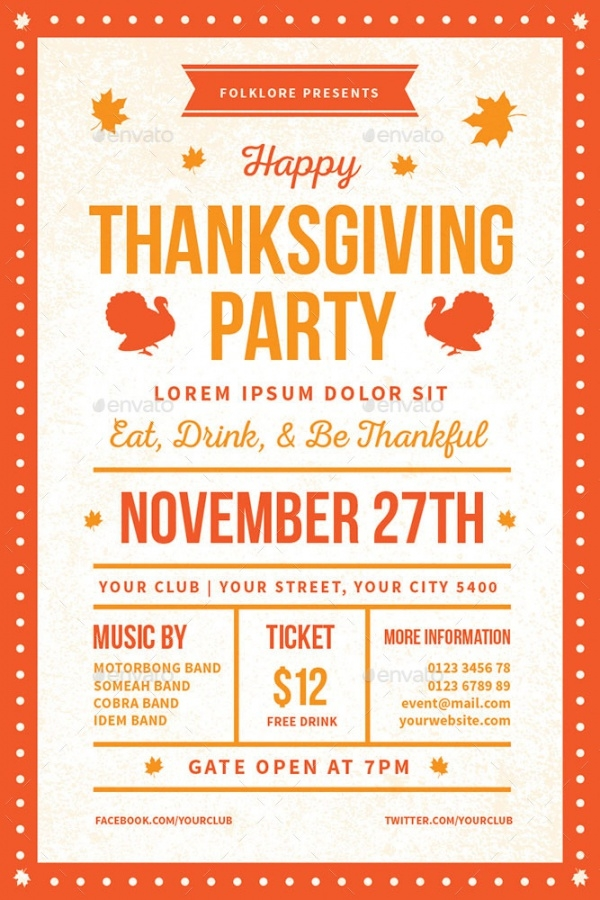 21+ Thanksgiving Invitation Designs - PSD, Vector EPS, AI ...
