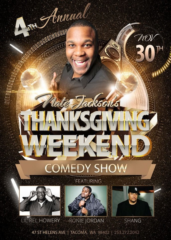Thanksgiving Weekend Comedy Show Flyer
