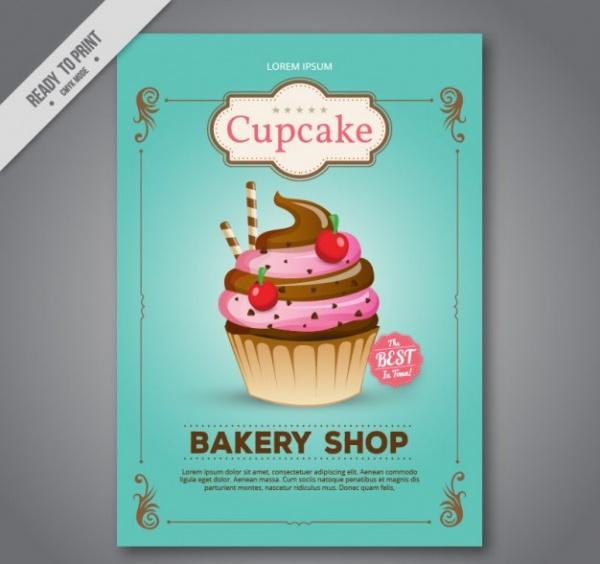 Thorough Cupcake Bakery Shop Brochure