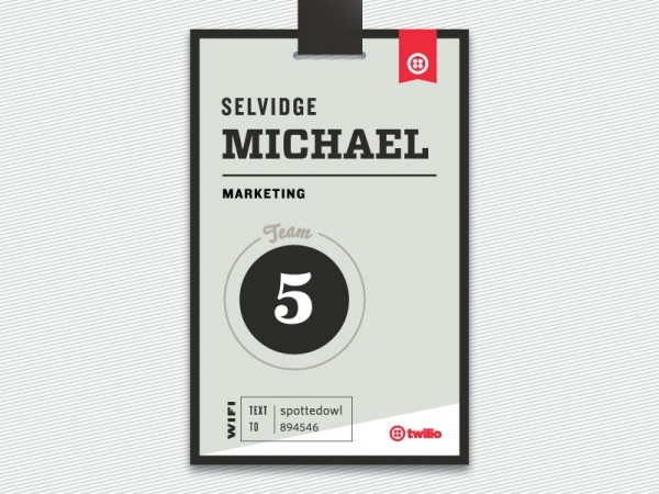 Throwback Name Tag Typography