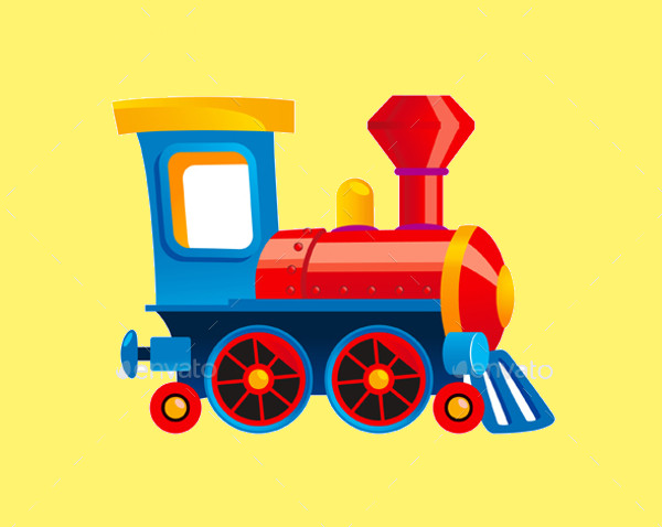 Toy Train Cartoon Kids Illustration