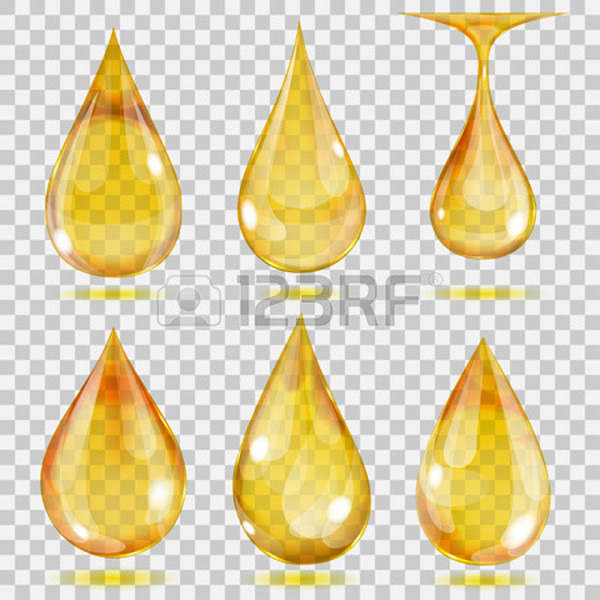 Transparent Drops Icons in Yellow