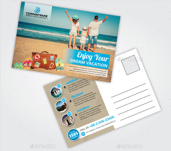 Travel Postcard Graphic Design