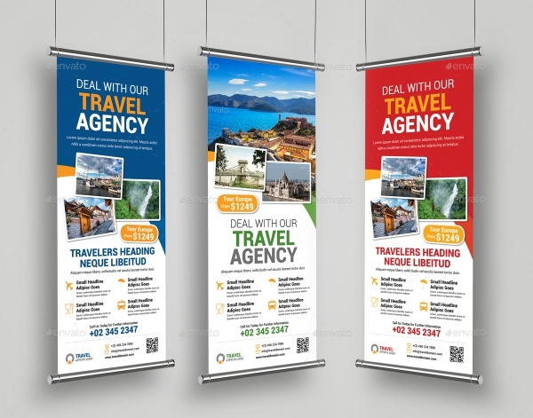 Travel Roll Up Banner Design