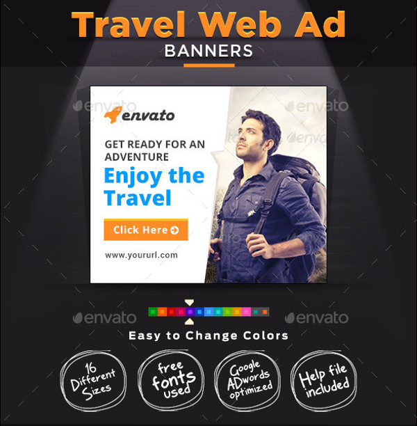 Travel & Tourism Web Banner Design