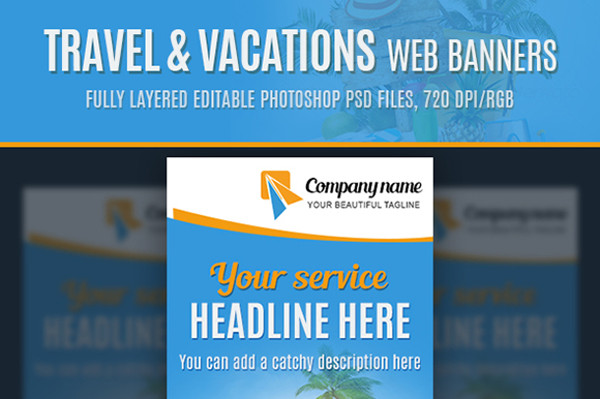 Travel & Vacations Web Banners Design
