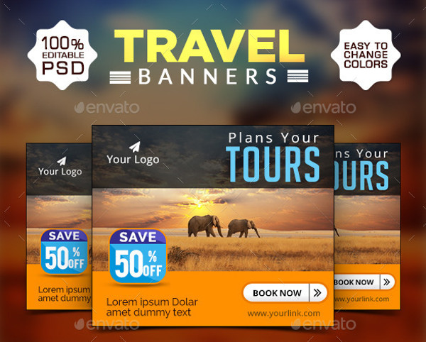 Travel Web Banner Design