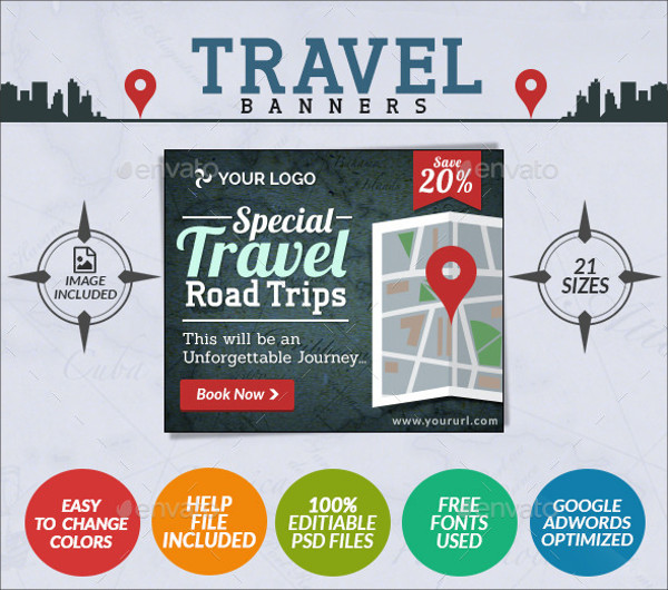 Travel Website Banner