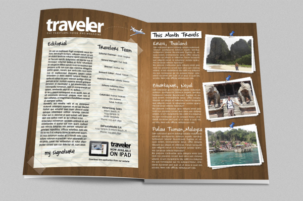 Traveler Tourism Magazine Indesign