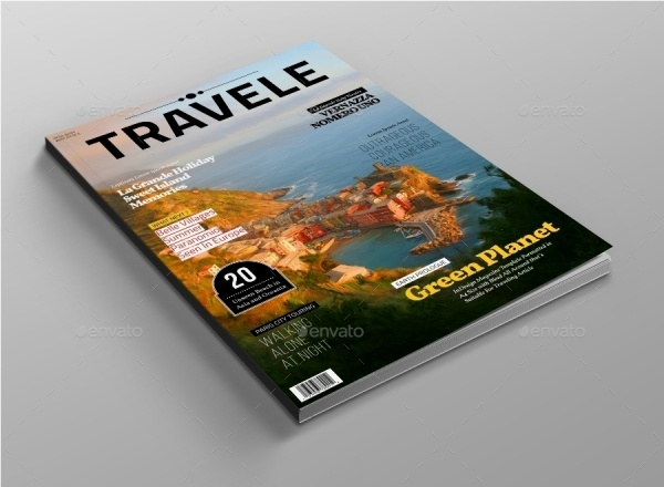 Traveling Magazine Cover Template