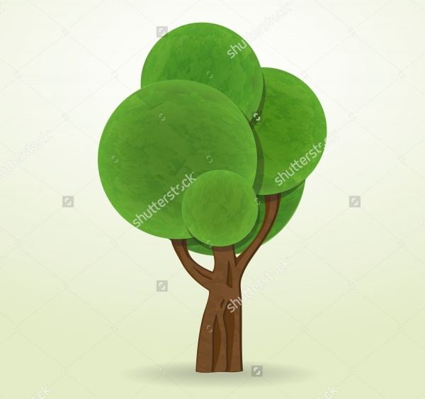 Tree Cartoon Illustration