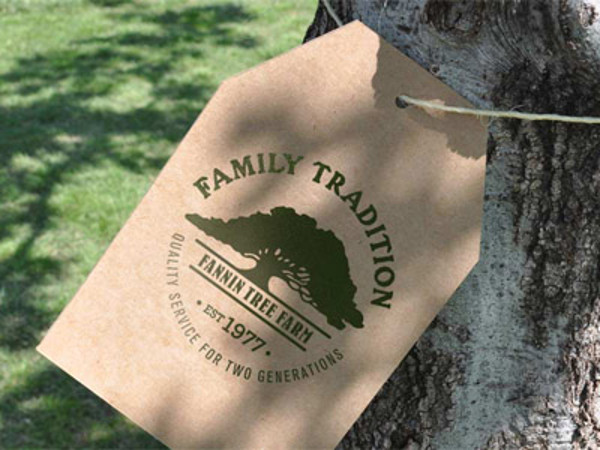 Tree Farm Cardboard Hang tag