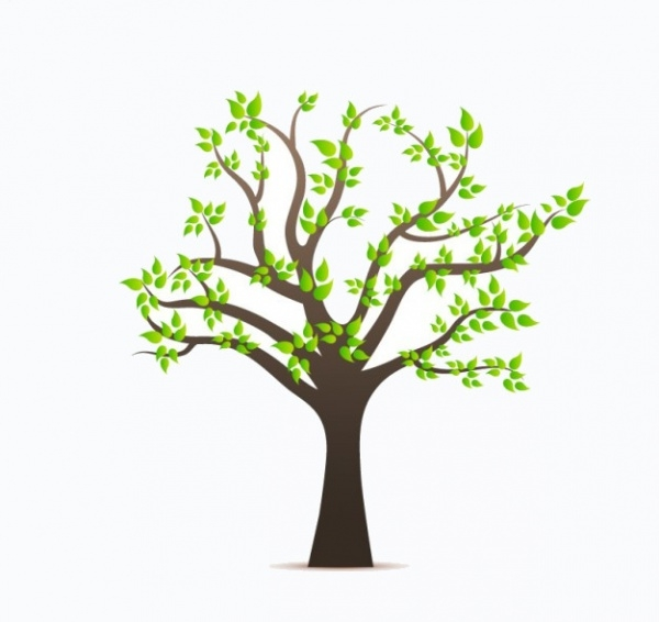 Tree Vector Leaves Illustration