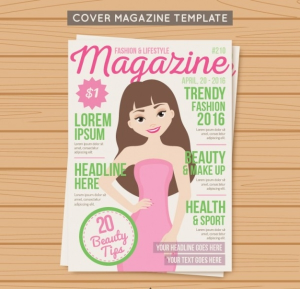 Trendy Cartoon Fashion Magazine
