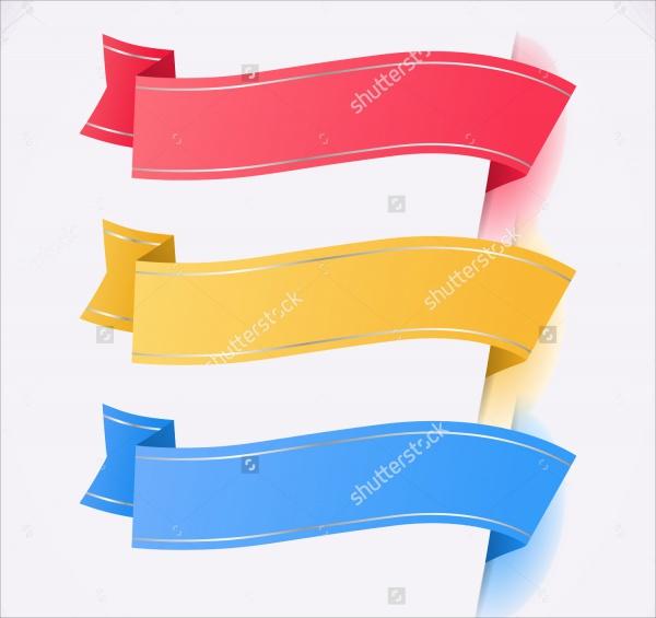 Trendy Colors Ribbon Tags
