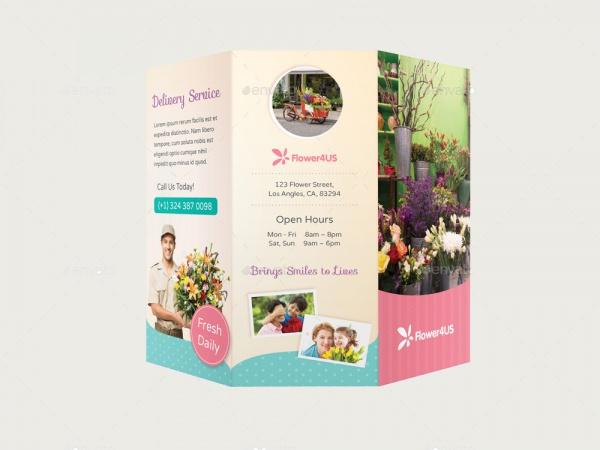 Trendy Flower Shop Brochure Template