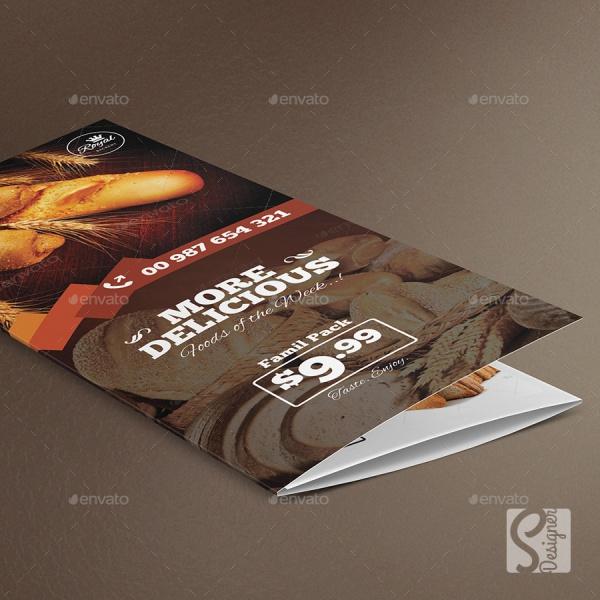 Tri Fold Bakery Brochure Design